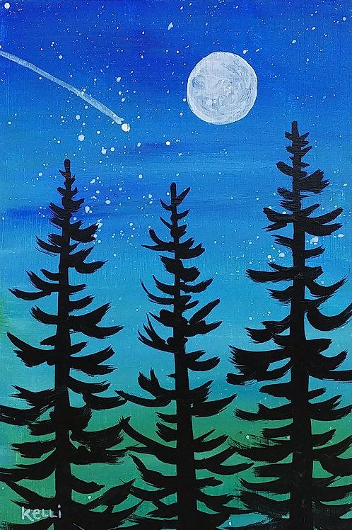 """Evening Pines 4"""