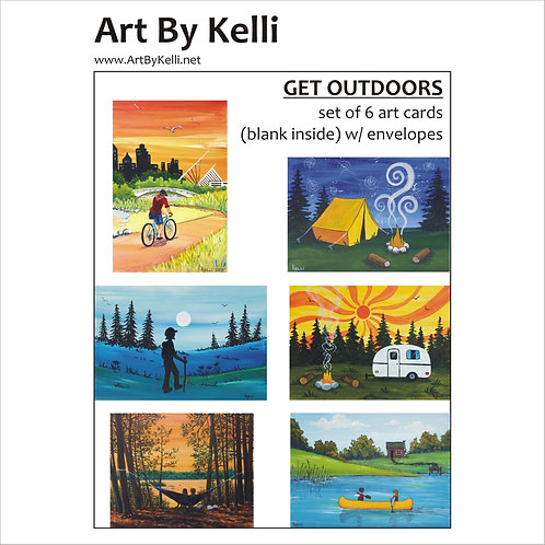 """Get Outdoors"" Art Cards Boxed Set"