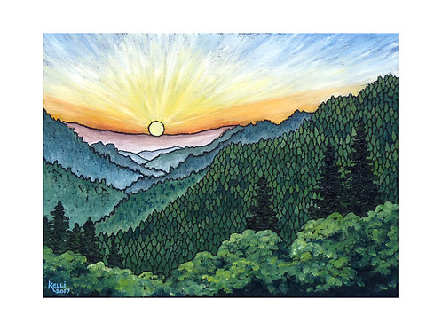 Art Card: Mountain Landscape 2