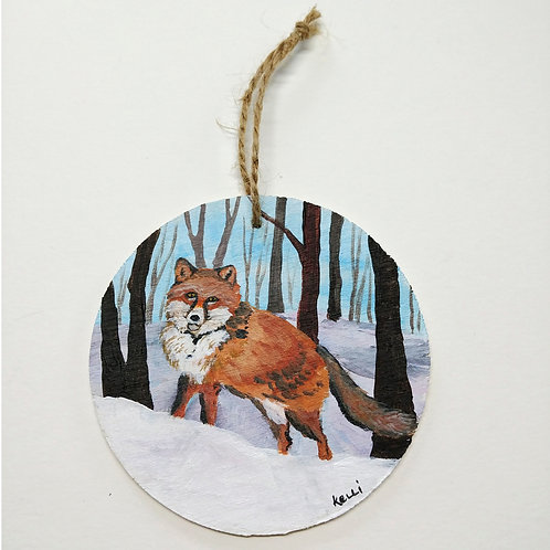 Hand-painted Ornament: Fox