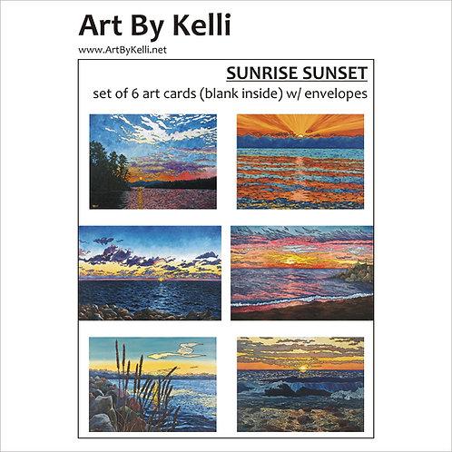 """""""Sunrise Sunset"""" Art Cards Boxed Set"""