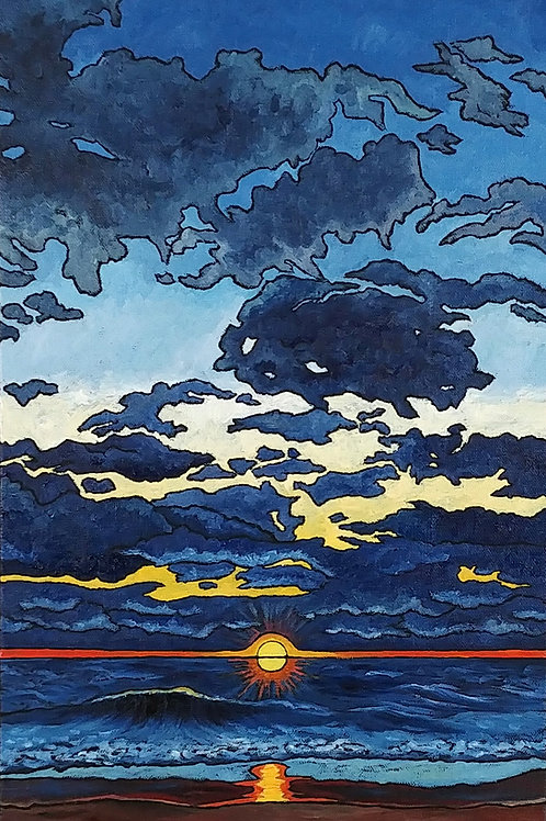"""Sunrise Over Lake Michigan 3.22.2017"""