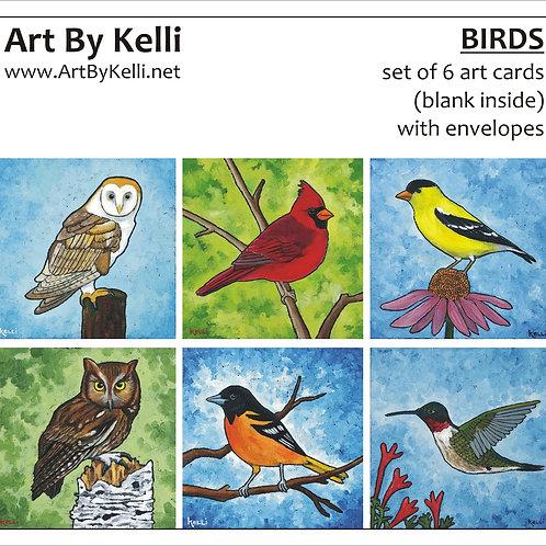 """Birds"" Art Cards Boxed Set"