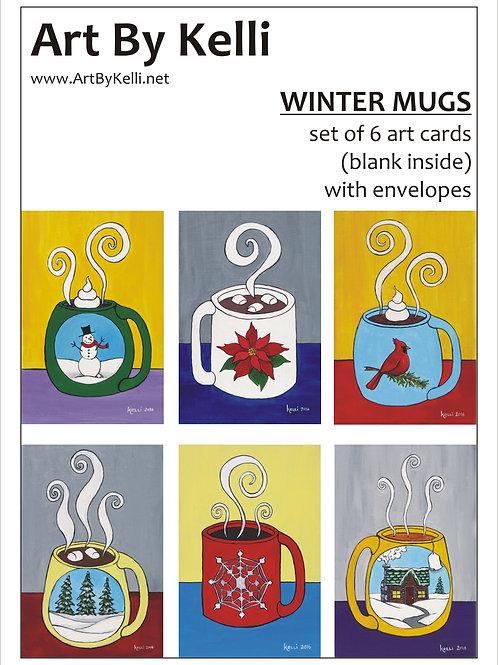 """Winter Mugs"" Art Cards Boxed Set"