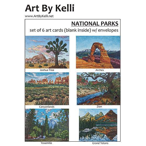 """National Parks"" Art Cards Boxed Set"