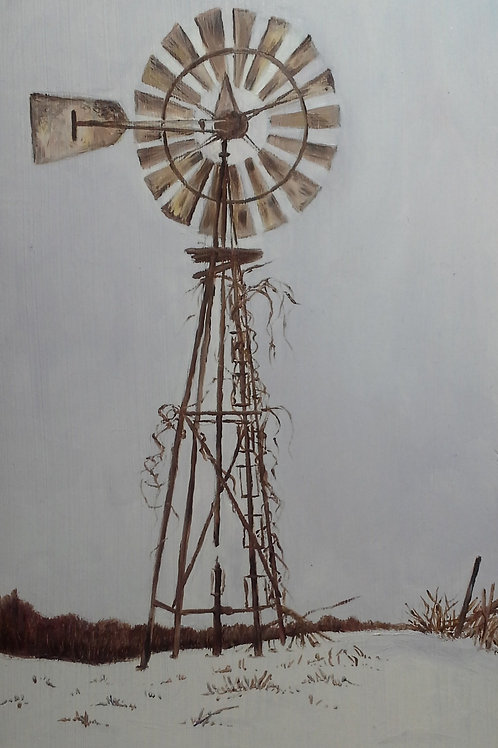 """""""Old Windmill on Boot Lake Road"""""""