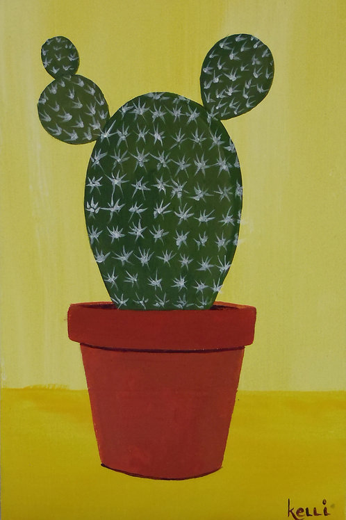 """""""Potted Cactus 6"""""""
