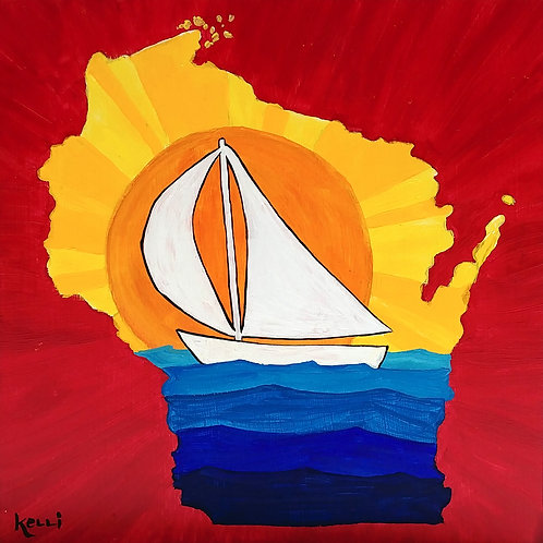 """Wisconsin Sailboat"""