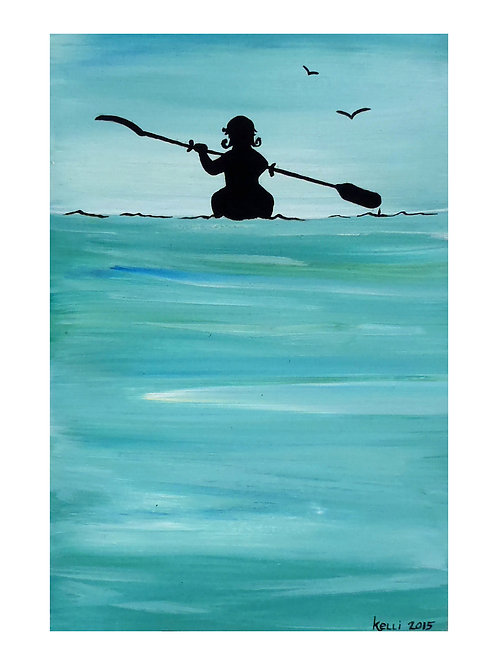 Art Card: Paddling Calm Waters