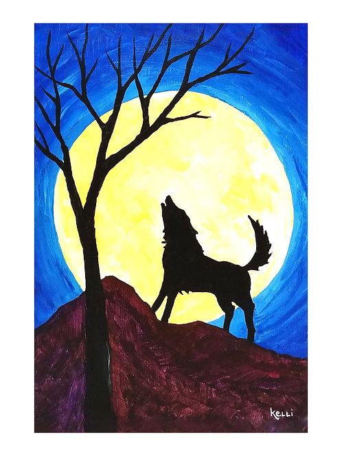 Art Card: Full Moon Howl