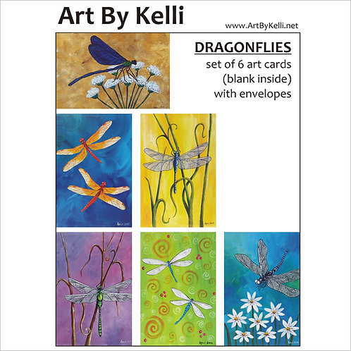 """Dragonflies"" Art Cards Boxed Set"