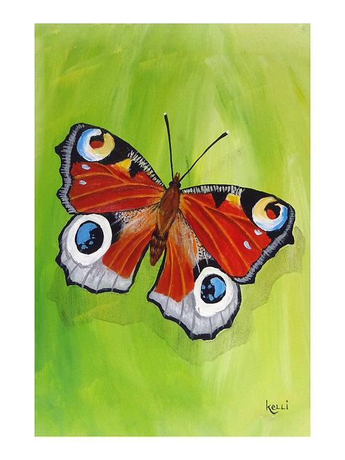 Art Card: Peacock Butterfly