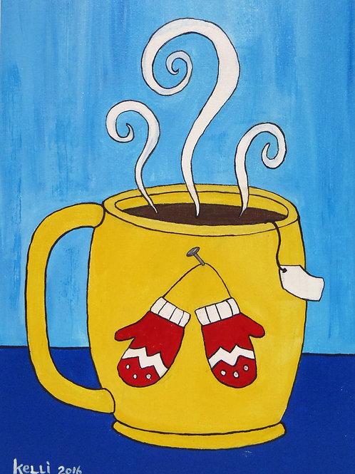 """Winter Mugs: Red Mittens"""