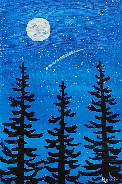 """Evening Pines 6"""