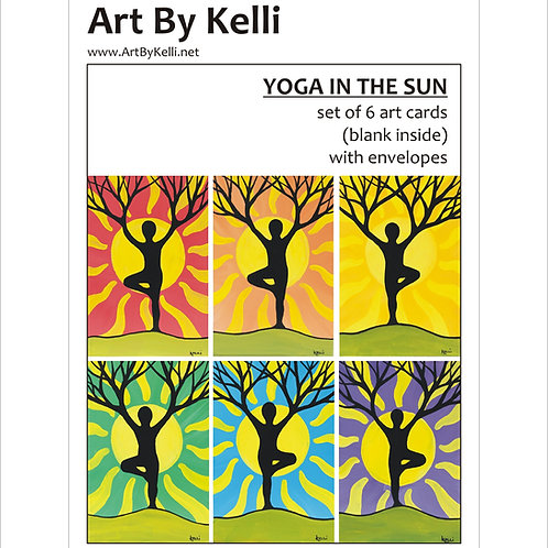 """Yoga in the Sun"" Art Cards Boxed Set"