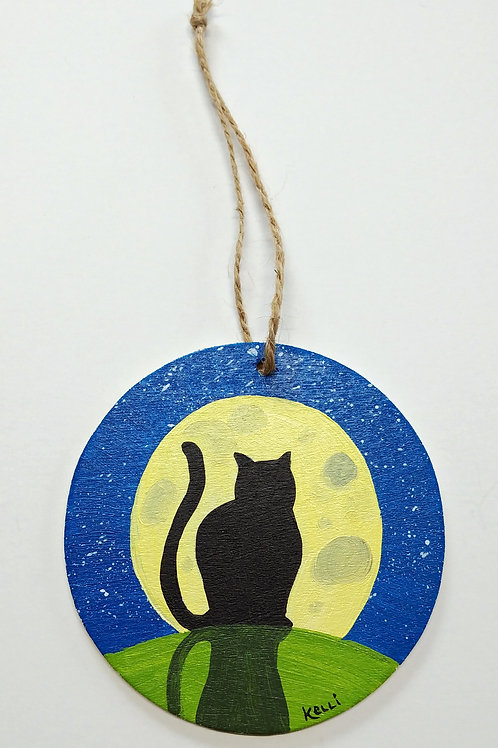 Hand-painted Ornament: Cat