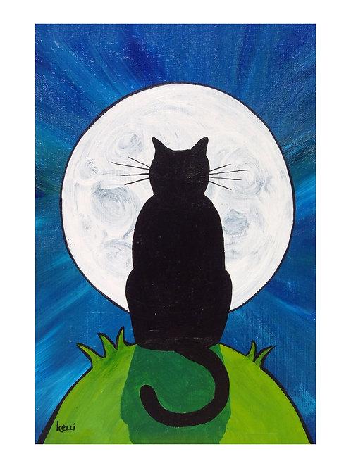Art Card: Super Moon Cat