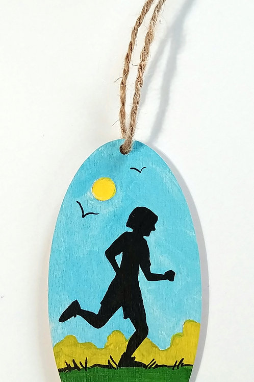 Hand-painted Ornament: Runner