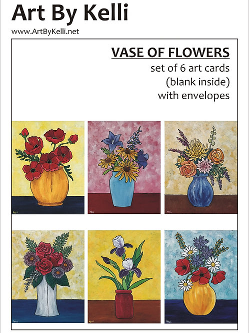 """Vase of Flowers 2"" Art Cards Boxed Set"
