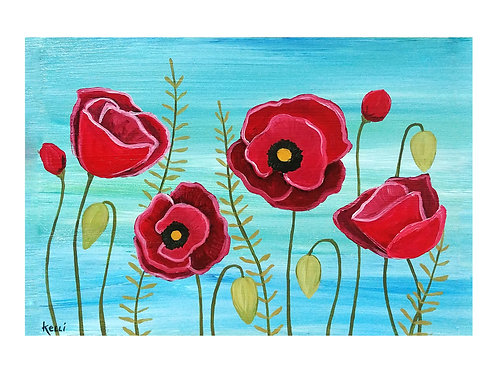 Art Card: Poppies
