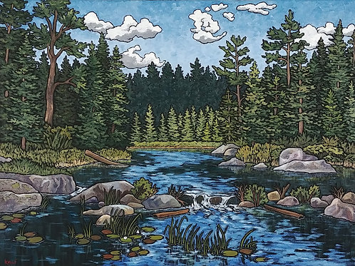 Art Card: July in the Boundary Waters