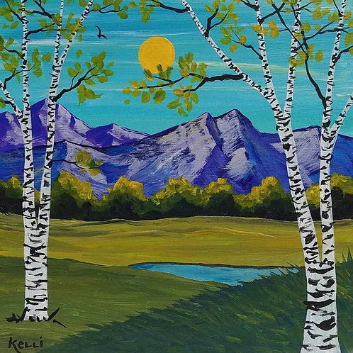 """""""Birch Trees and Mountains"""""""