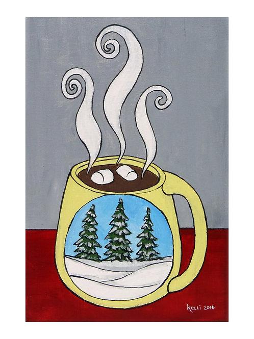 Art Card: Pine Trees Mug