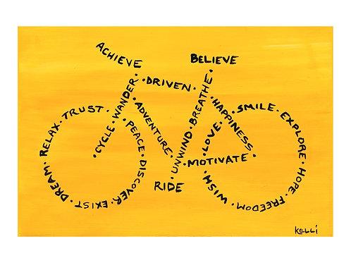 Art Card: Achieve, Believe, Ride