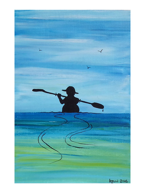 Art Card: Kayaking Calm Waters