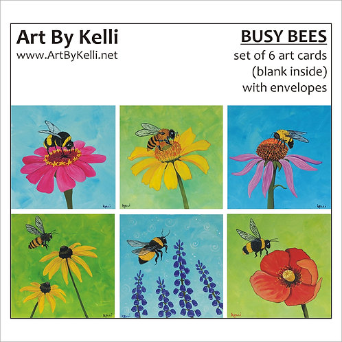 """""""Busy Bees"""" Art Cards Boxed Set"""