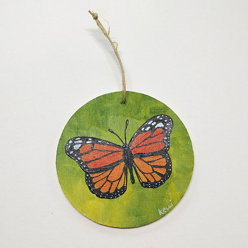 Hand-painted Ornament: Monarch