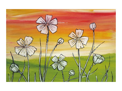 Art Card: Wildflowers in the Spring
