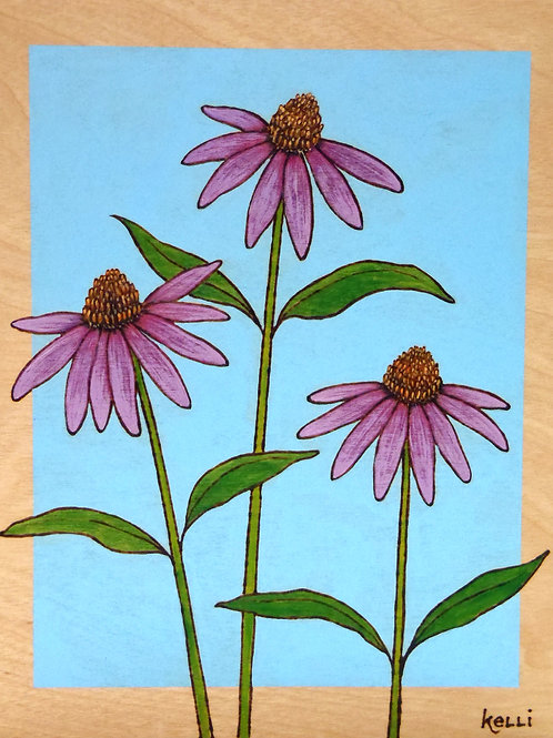 """Purple Coneflowers Study"""