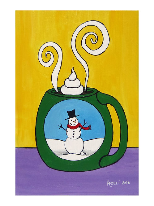 Art Card: Snowman Mug