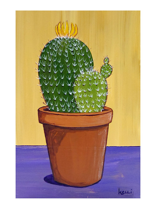 Art Card: Potted Cactus 7