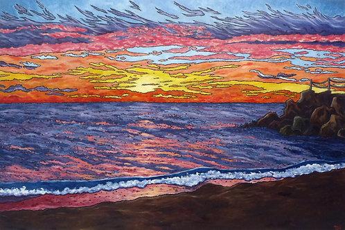 """Sunrise Over Lake Michigan 11.14.2016"""