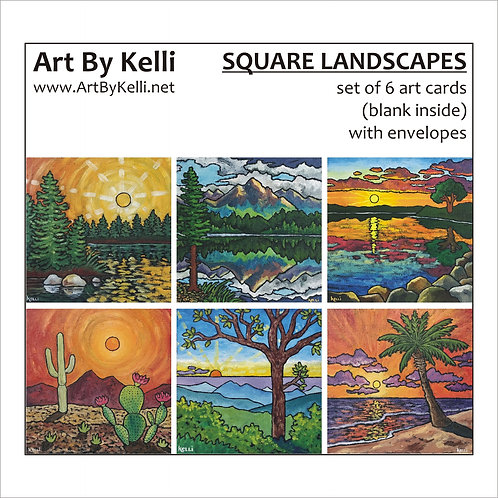 """Square Landscapes"" Art Cards Boxed Set"