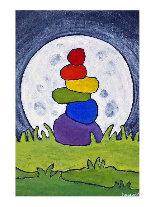 Art Card: Full Moon Cairn