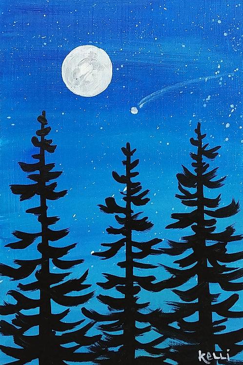 """Evening Pines 3"""