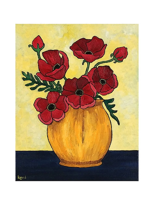 Art Card: Vase of Flowers O-8