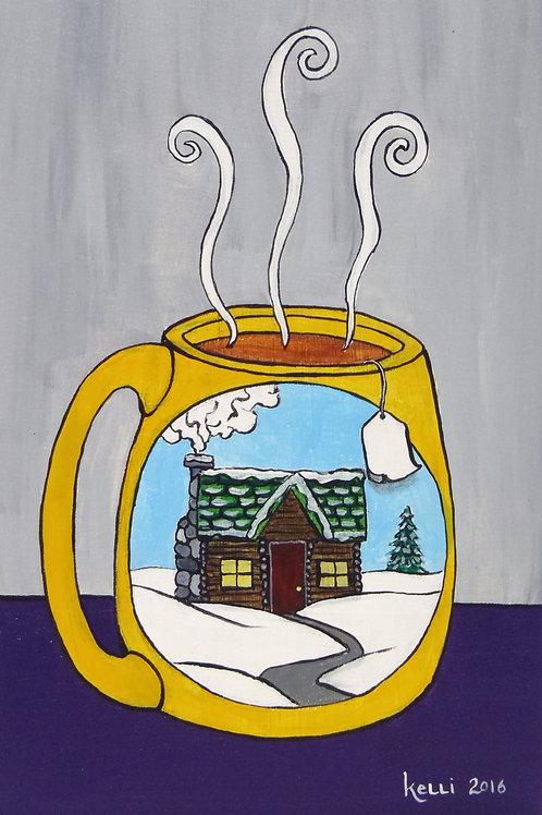 """""""Winter Mug: Cabin"""""""