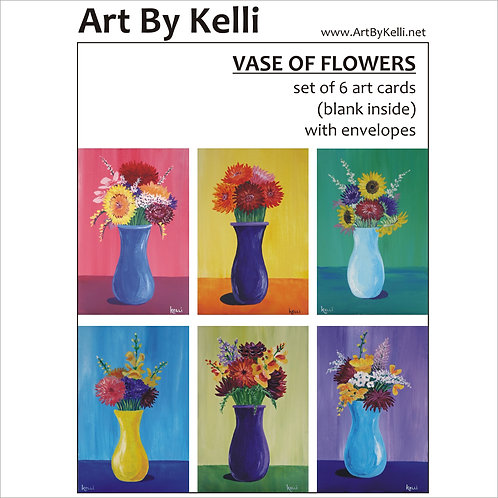 """Vase of Flowers"" Art Cards Boxed Set"