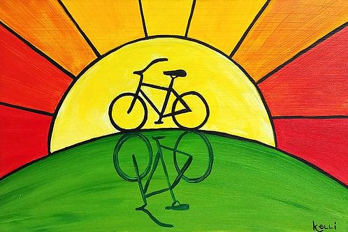 """Sunny Bike Silhouette"""