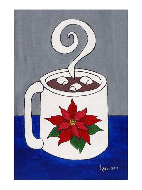 Art Card: Poinsettia Mug