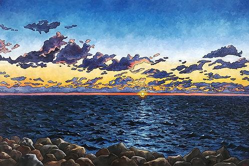"""Sunrise Over Lake Michigan 9.9.2017"""