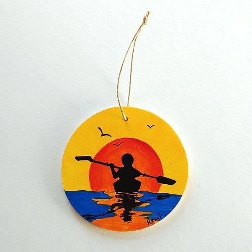 Hand-painted Ornament: Kayak
