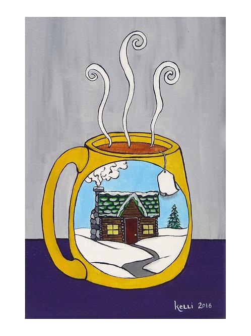 Art Card: Cabin Mug