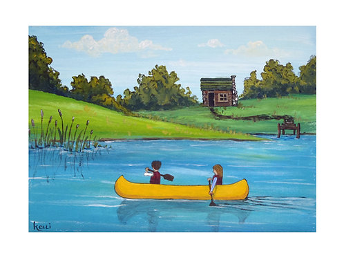 Art Card: The Yellow Canoe