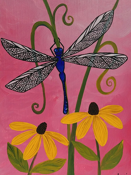 """""""Dragonfly with Black-eyed Susans"""""""
