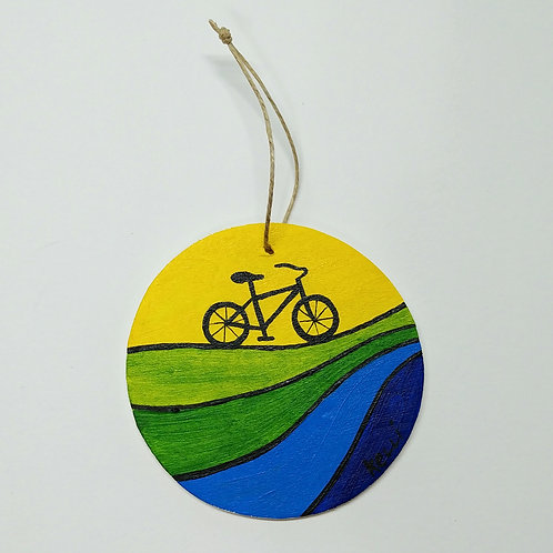Hand-painted Ornament: Bicycle